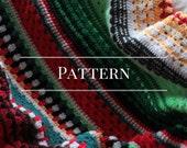 serape stripe afghan pattern, crochet blanket pattern