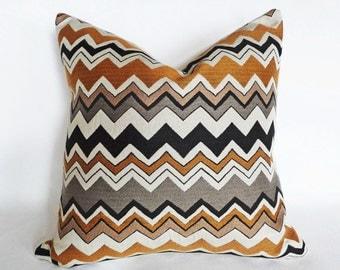 Cream Chevron Pillow Covers, Black Gold Pillows, Mens Throw Pillows, Cream Black Pillow, Neutral, Industrial Home Decor, 18, 20, 22, 24, 26