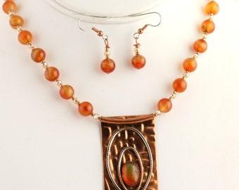 Agate/Opal Pendant. Listing 262369699