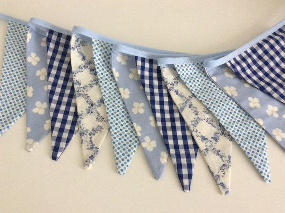 Special order for Jane 4.4m Blue Dainty Bunting - Fabric Garland