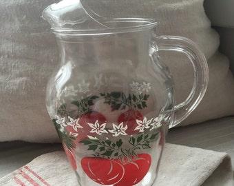 Vintage 50s tomato pitcher