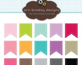 60% OFF SALE Digital Scrapbooking Flags Clipart Clip Art Personal and Commercial Use