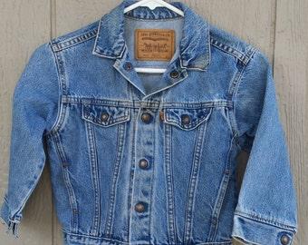 Child's Levi's Stone Wash  Denim Jacket size 5