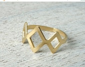 Sale 20% OFF Tulum Ring, geometric stacking ring, Mexican style jewelry