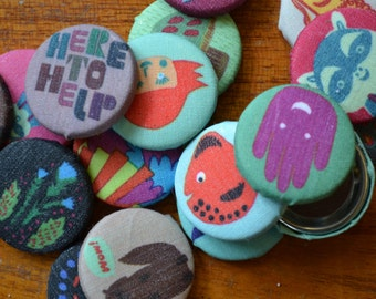 Pinback Buttons - The Experimental Collection (002)