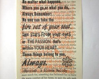 Your fire and passion are yours, not one can take them print on a book page