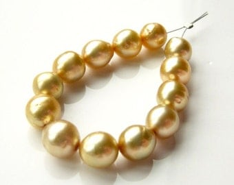 Baroque Golden South Sea Pearls - Mini Strand