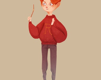 Weasley is Our King - Illustration Print