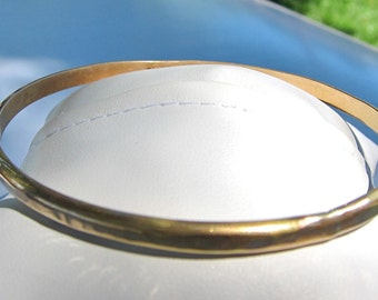 Hammered, Thick, 14K Gold Filled Bangle