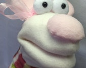 Merry the Mouse Hand Puppet in a Sweater (moving mouth)