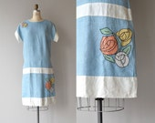 Glasgow Rose dress | vintage 1920s dress | cotton linen 20s dress