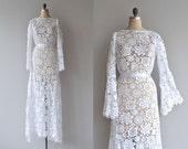 New Heirloom wedding gown | vintage 1970s wedding dress | bohemian lace wedding dress
