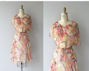 25% OFF SALE Arts Floridants dress   vintage 1920s dress   silk floral 20s dress
