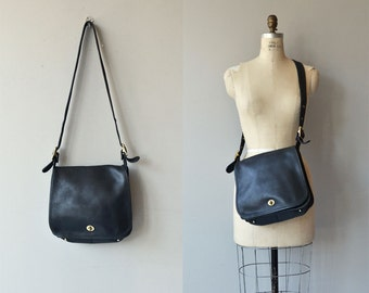 Coach Stewardess bag | vintage large Coach shoulder bag | black Coach purse