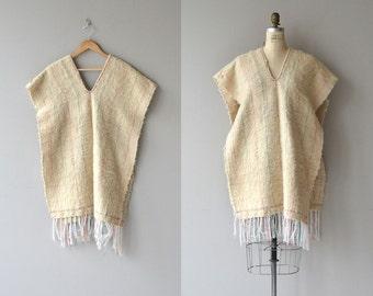 Tamalpais wool poncho | vintage 1970s poncho | wool 70s poncho