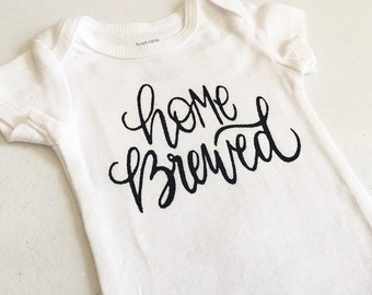 Baby Carter's Bodysuit, Home Brewed, Shirt, Lap Tee, Gender Neutral Gift