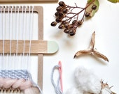DIY Weaving Kit / Weaving loom kit for hand weaving wall art