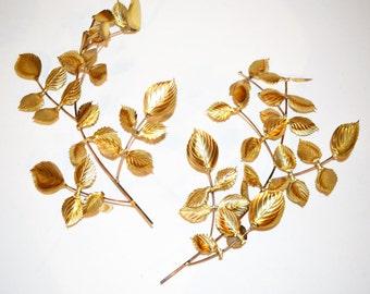 Vintage Gold Leaves Hollywood Regency