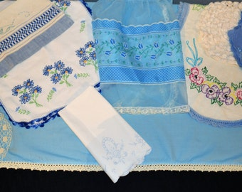 Blue Petals Country Cottage Collection ........Ten Pieces