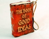 Red Mini Leather Journal. The Book of Good Ideas