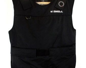 My Chemical Romance Black Gun Print Mock Bulletproof Vest