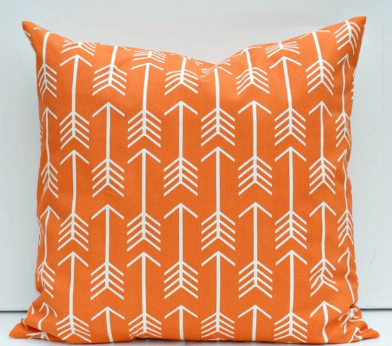 Large Floor Pillow Cases : Orange White Arrow Euro Sham Large Floor Pillow Cover