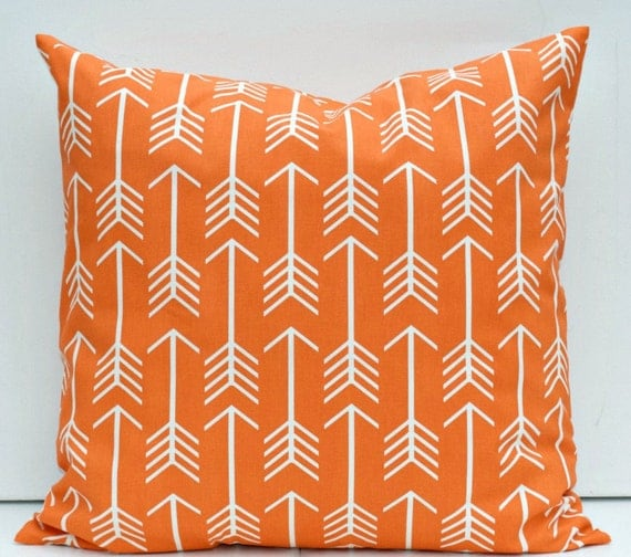 Large Orange Floor Pillows : Orange White Arrow Euro Sham Large Floor Pillow Cover