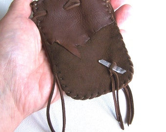 Leather Medicine Bag...BROWN