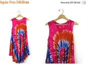 Bright Pink Purple Vintage Sun Dress Indian tent Dress Embroidered Long Festival tie dyed Dress Hippie Ethnic Boho Rayon Slip Free size OSF