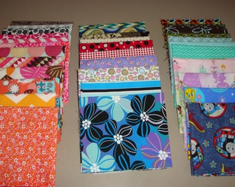 Fat Quarter Bundle - Scrap Fat Quarter Bundle - Destash Fat Quarters - Designer Scrap Fat Quarters - Quilt Fabric