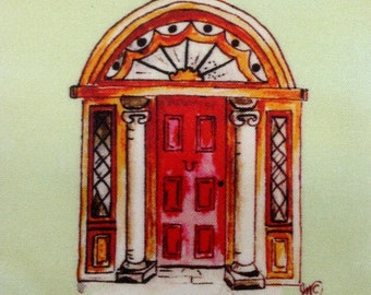 Doors of Dublin fabric quilting Irish Ireland