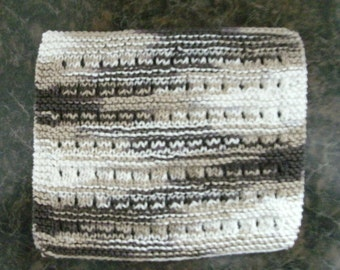 Hand Knit Cotton Dishcloth - measures approximately 8x91/2 inches