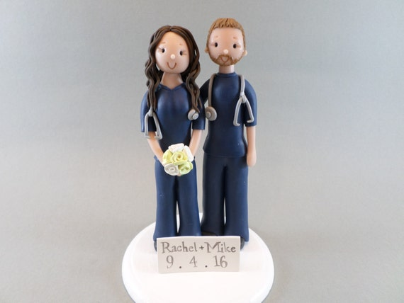 nurse wedding cake toppers unique cake toppers custom handmade doctor amp wedding 17951