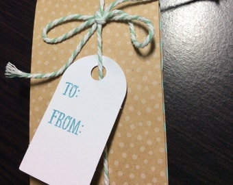 Gift card holder envelope