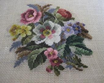Vintage floral bouquet Needlepoint Canvas