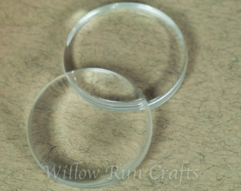 DISCOUNT 100 Ultra White Crystal Clear Glass Circles, 24mm