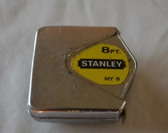 Vintage STANLEY MY 8 tape measure USA made 8 feet