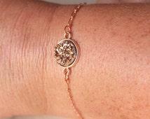 Rose Gold Druzy Bracelet rose gold faux rose gold druzy bracelet, choose, silver, brass, gold or rose gold metal finish