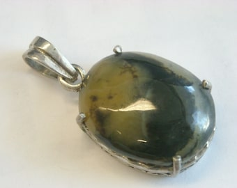 sterling silver agate pendant  ( C 79 )