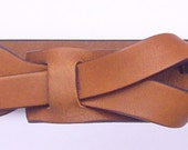 Skinny Leather Belt in Dark Camel by Muse 1 inch Free Shipping