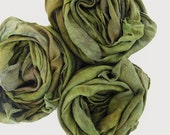 waldorf play silk scarf - 35x35 multi hued playsilk - hand-dyed - EARTH