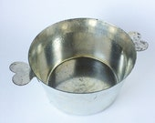 Vintage French Heart Handle Pot for Creme Caramel Flan Cooking or Display for Foodie Lover