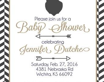 Deer Baby Shower Invitation, Oh Deer Baby Shower Invitations, Deer Baby Shower INVITE, You Choose The Colors*