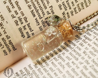 Miniature Bubble Soap Glass Bottle Necklace