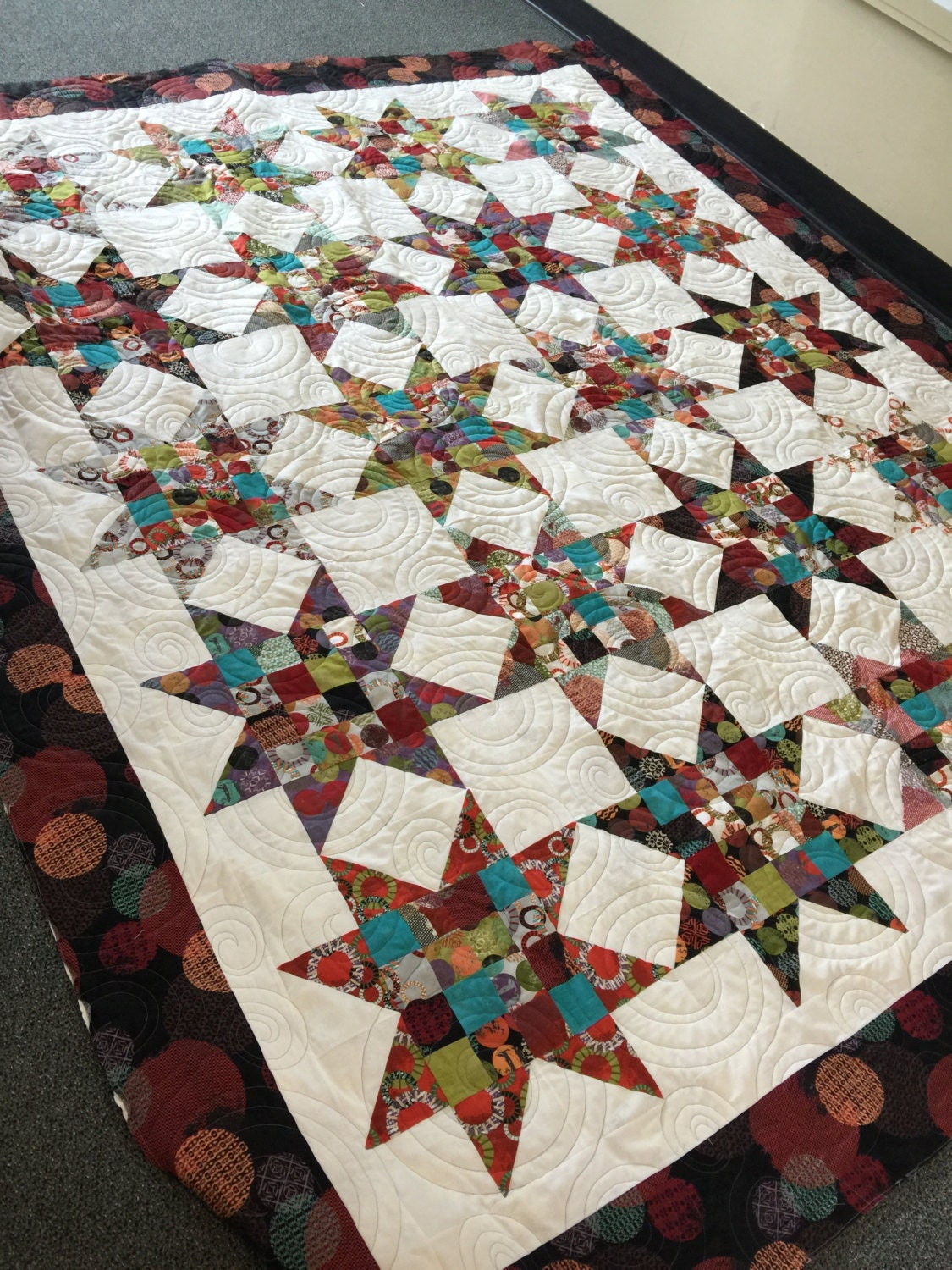 Summer Juggling Full Size Bed Quilt