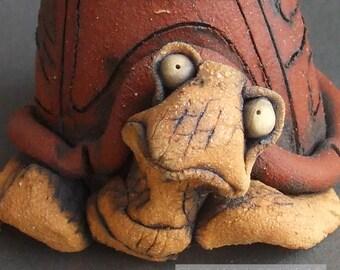 Ceramic Turtle Vase and Sculpture