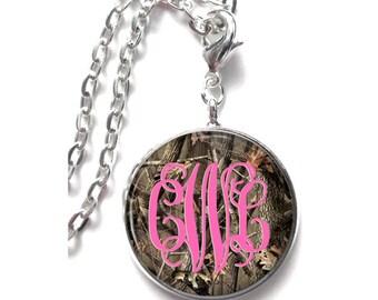 Camo Monogram Necklace (400)