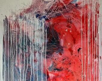 SALE - Original Art - ooak abstract oil painting - 'Pathogen'
