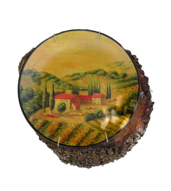 Decorative Wall Plates Italian : Italian tuscan style decorative wall plate home d?cor