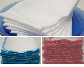Unpaper Towels - Pack of 6 or 12 - Choice of Color - Reusable Cotton Paper Towels - Laundry and Cleaning